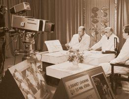 Arstide televisioonisaate ettevalmistus 1982. aastal. Allikas: Tartu Ülikooli